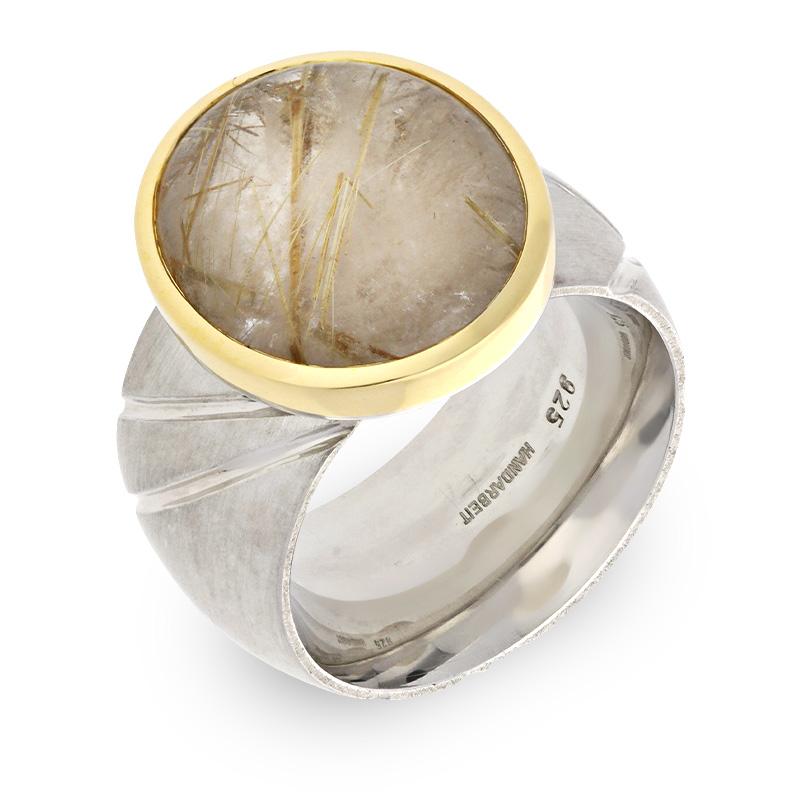 Rutilquarz-Ring Bicolor