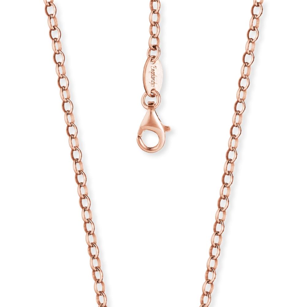 Kette Engelsrufer Silber, rosé-vergoldet 60 cm