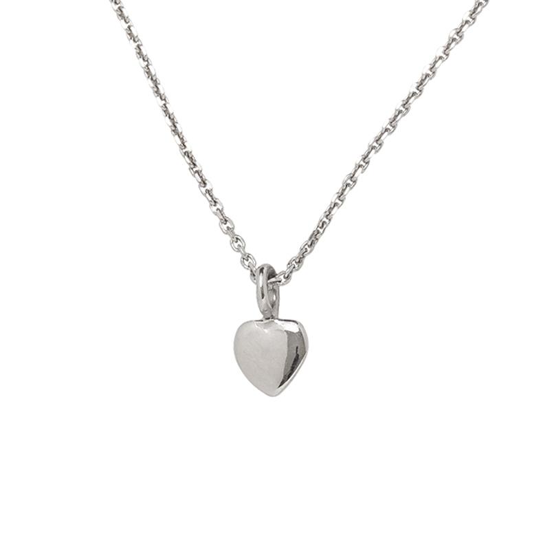 Herz-Anhänger mit Kette Silber