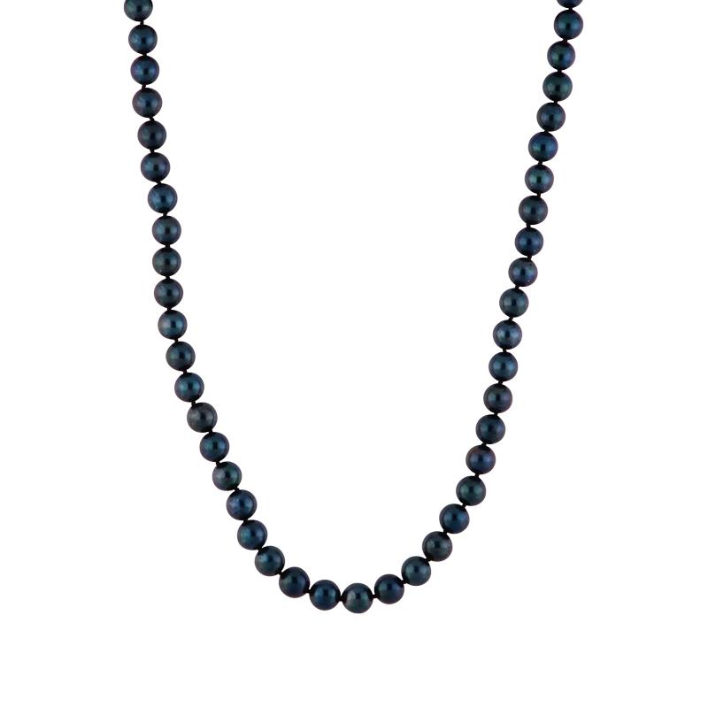 Akoya-Perlkette mit Gelbgold-Schließe