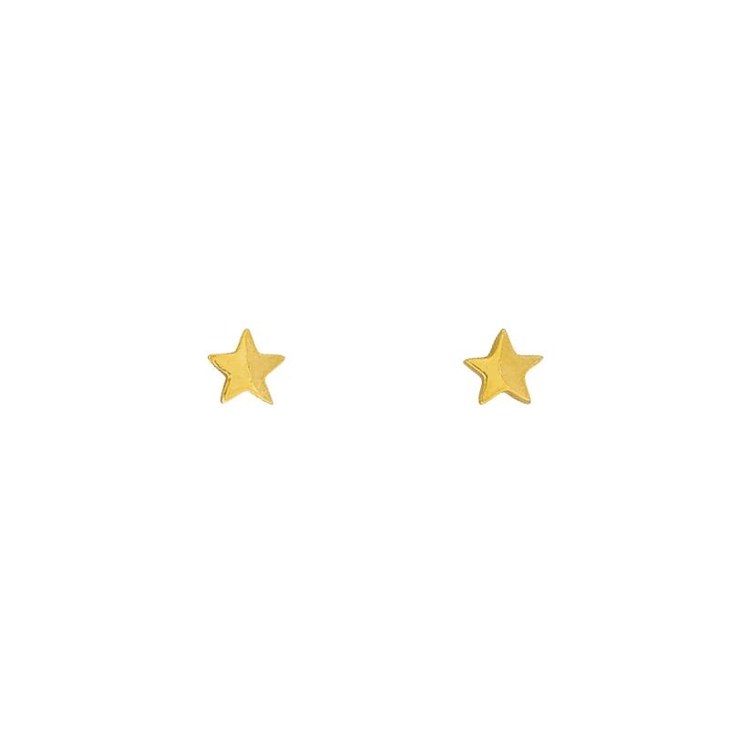 Stern-Ohrschmuck Gelbgold
