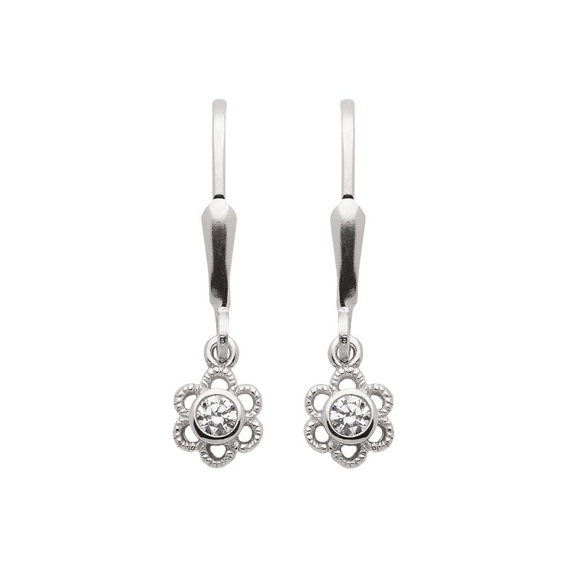 Ohrhänger mit Zirkonia aus Silber