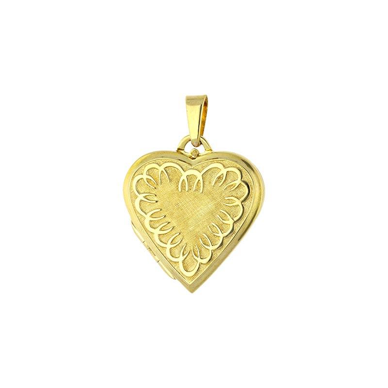 Herz-Medaillon Gelbgold