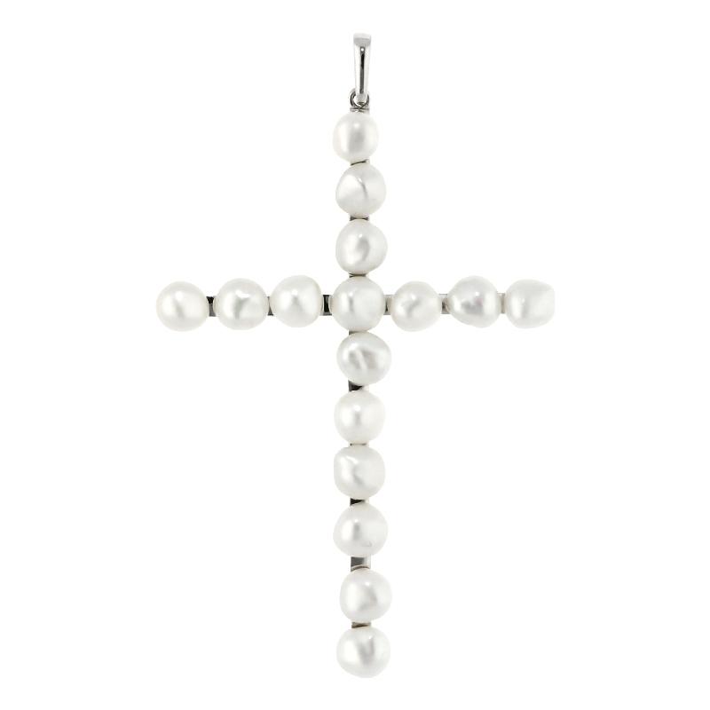 Kreuzanhänger mit Perlen