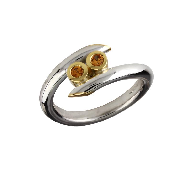 Zirkonia-Ring Bicolor