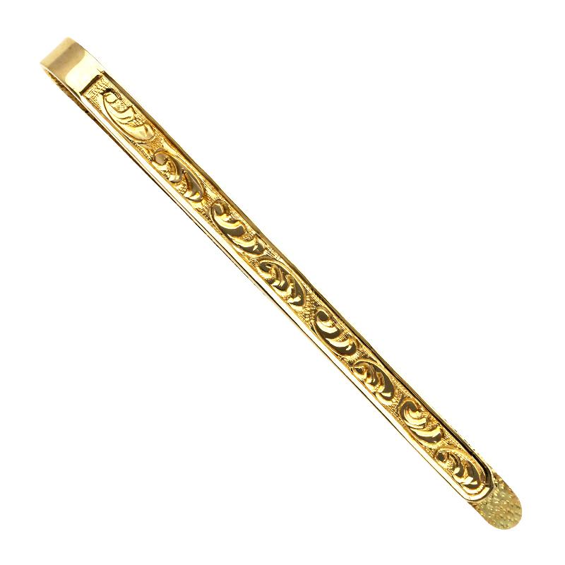 Krawattenklammer Gelbgold
