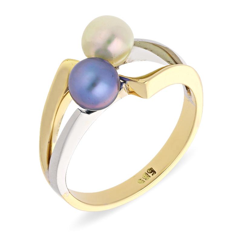 Akoya-Perl-Ring Bicolor