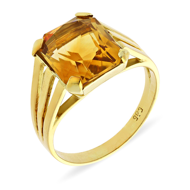 Citrin-Ring Gelbgold
