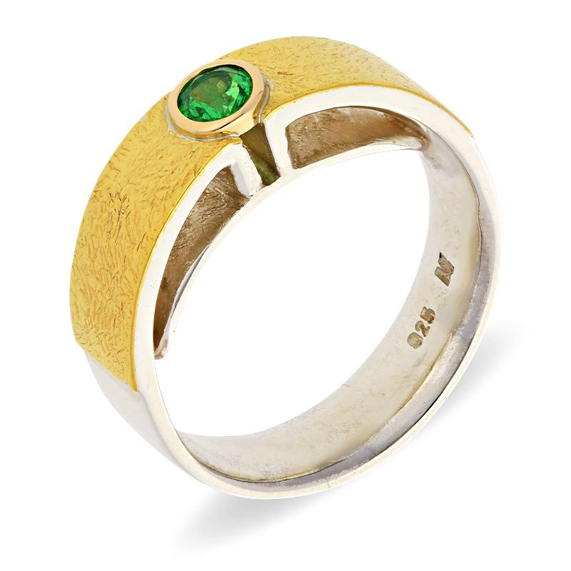 Smaragd-Ring Bicolor