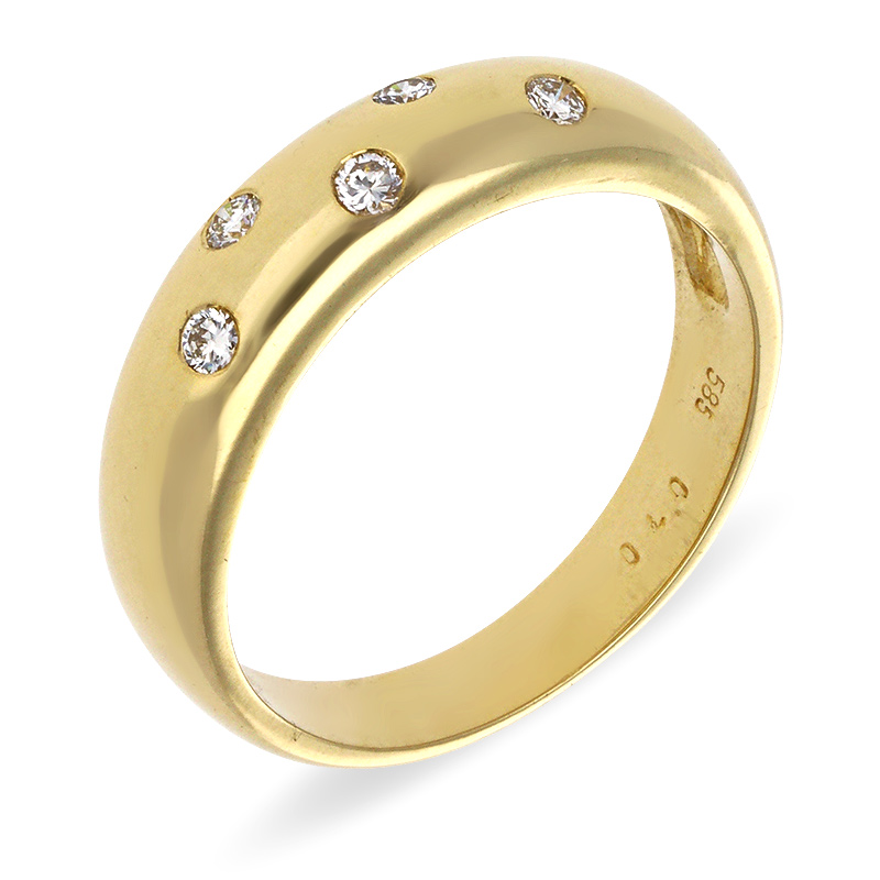 Brillant-Ring Gelbgold