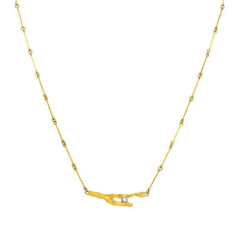 Lapponia-Halsschmuck Gelbgold