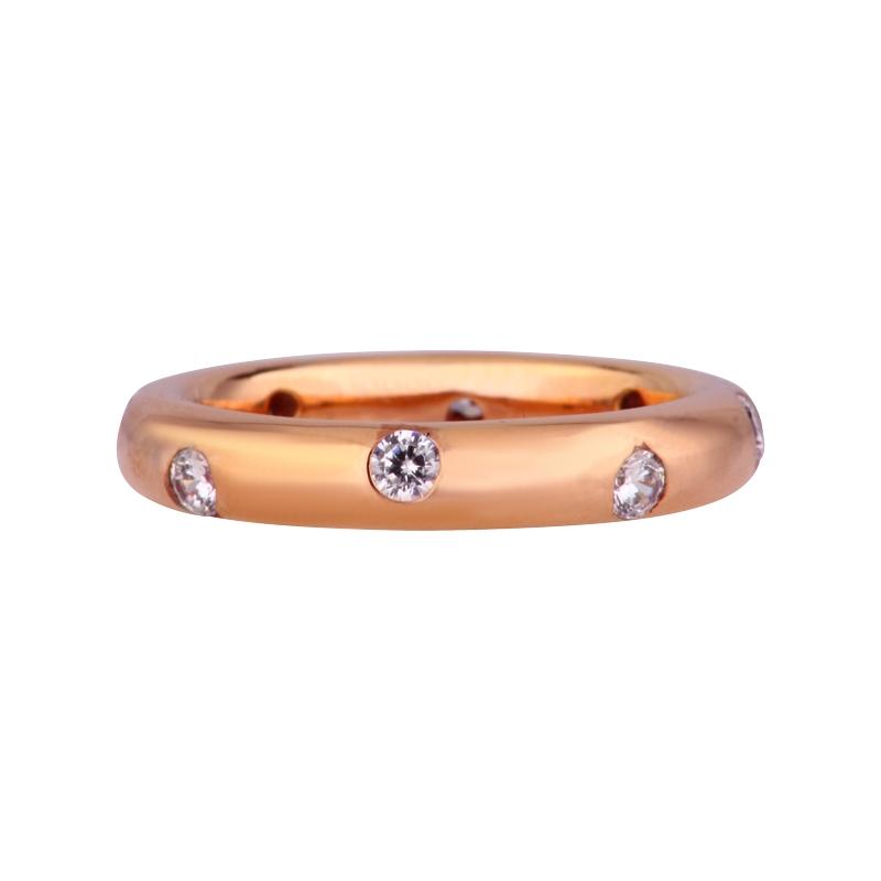 Funkelnder Ring Silber/rosévergoldet