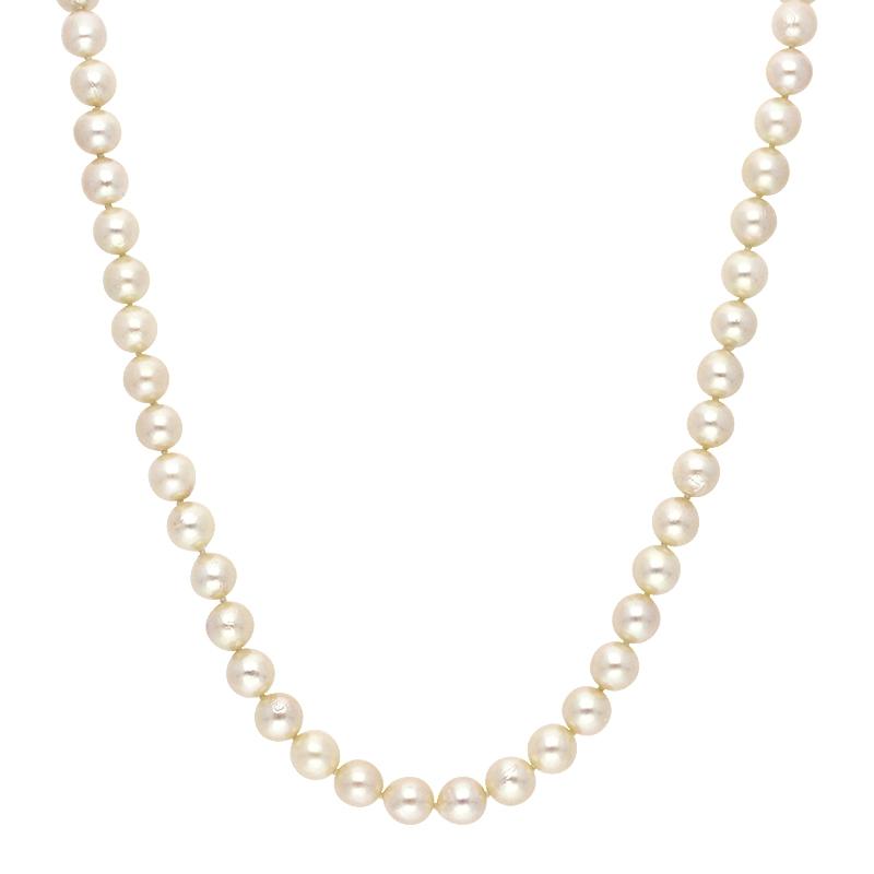 Perlkette Weißgold