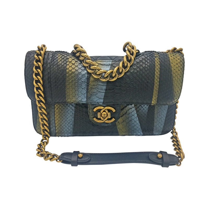 Chanel 'Jumbo Flap Bag' Python