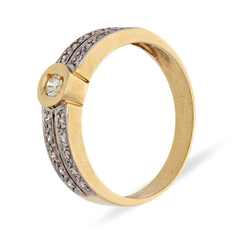 Diamant-Ring Gelbgold