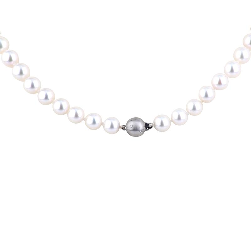Akoya-Perlkette mit Weißgoldschließe