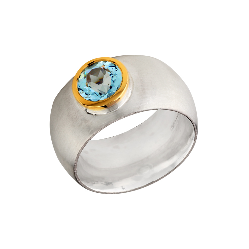 Topas-Ring Bicolor