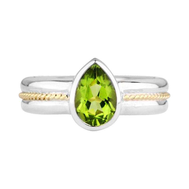Peridot-Ring Bicolor