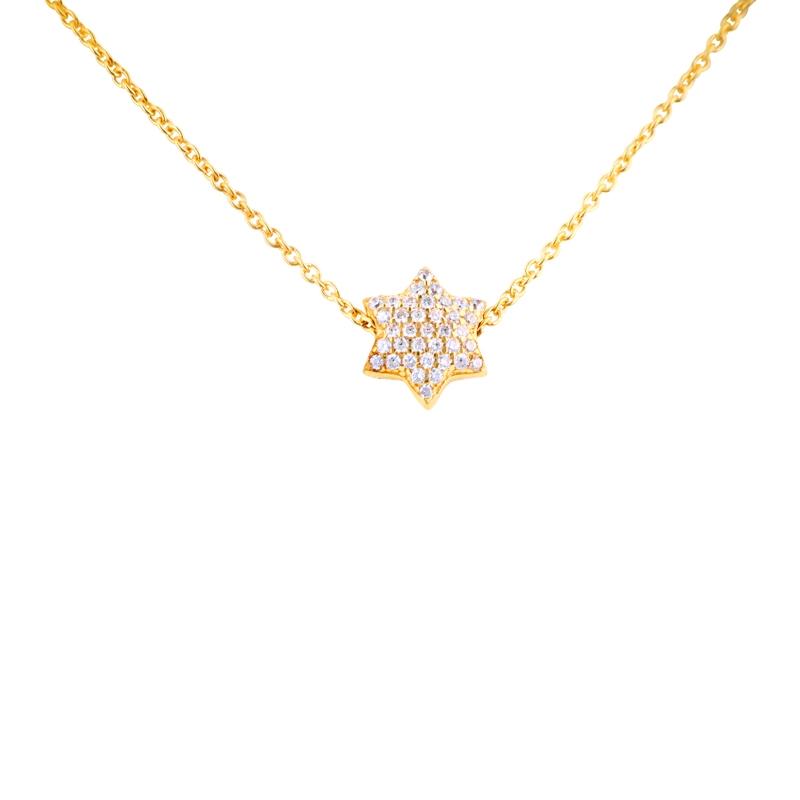 Sternstunde - Anhänger 'Stern' Silber vergoldet