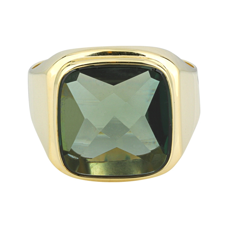 Spinell-Ring Gelbgold