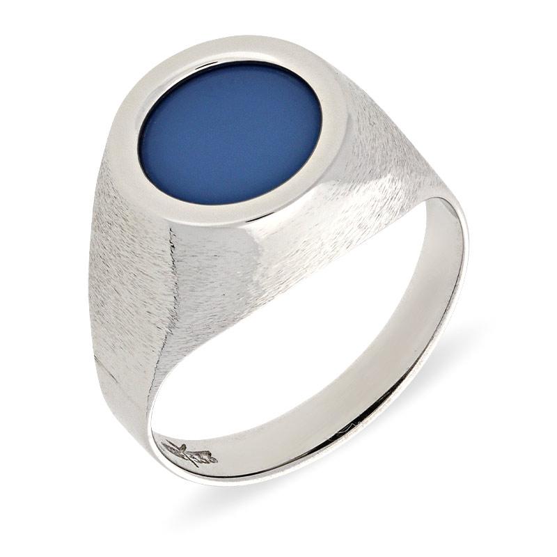 Quarz-Ring Weißgold