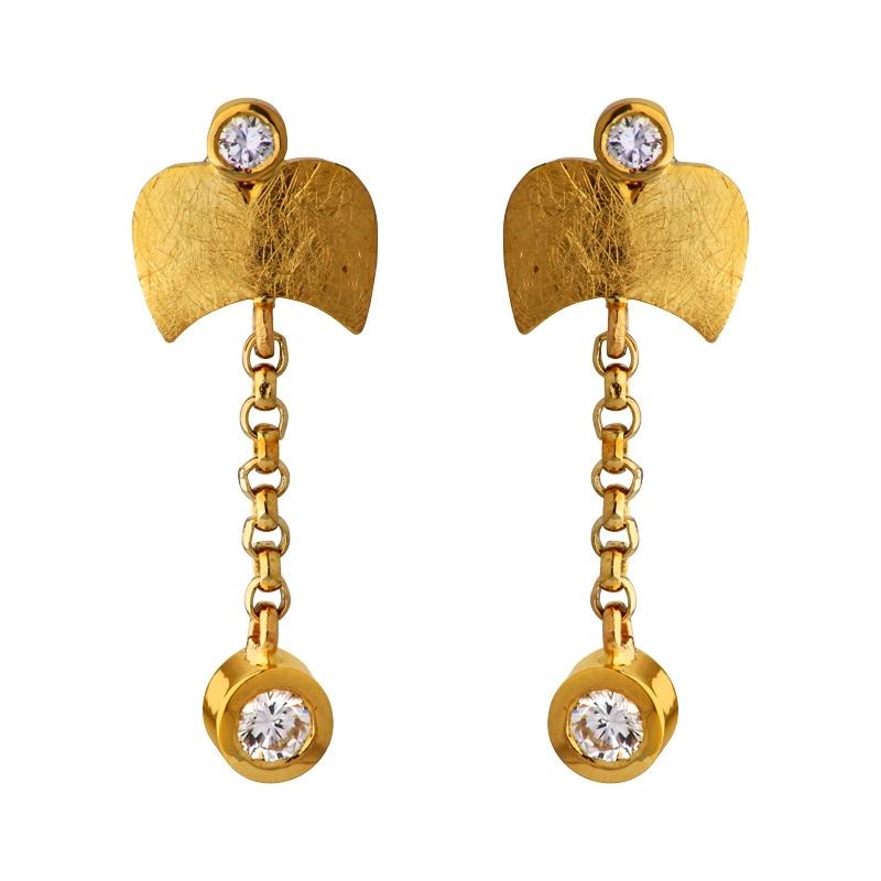 Brillant-Ohrhänger Gelbgold