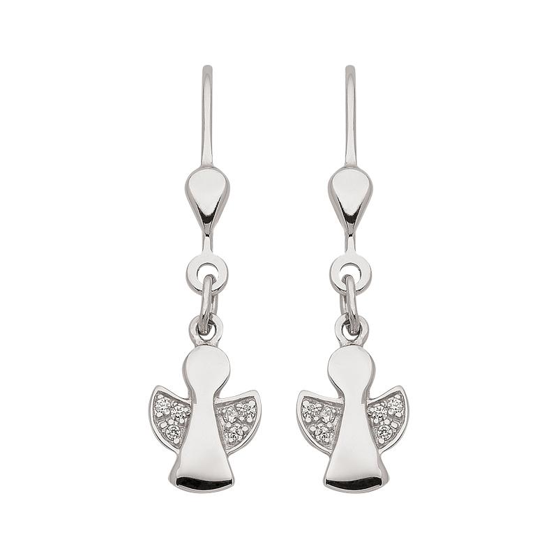Schutzengelchen-Ohrhänger in Silber