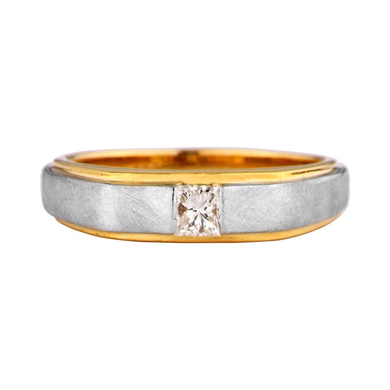 Diamantring in Gelb- und Weißgold