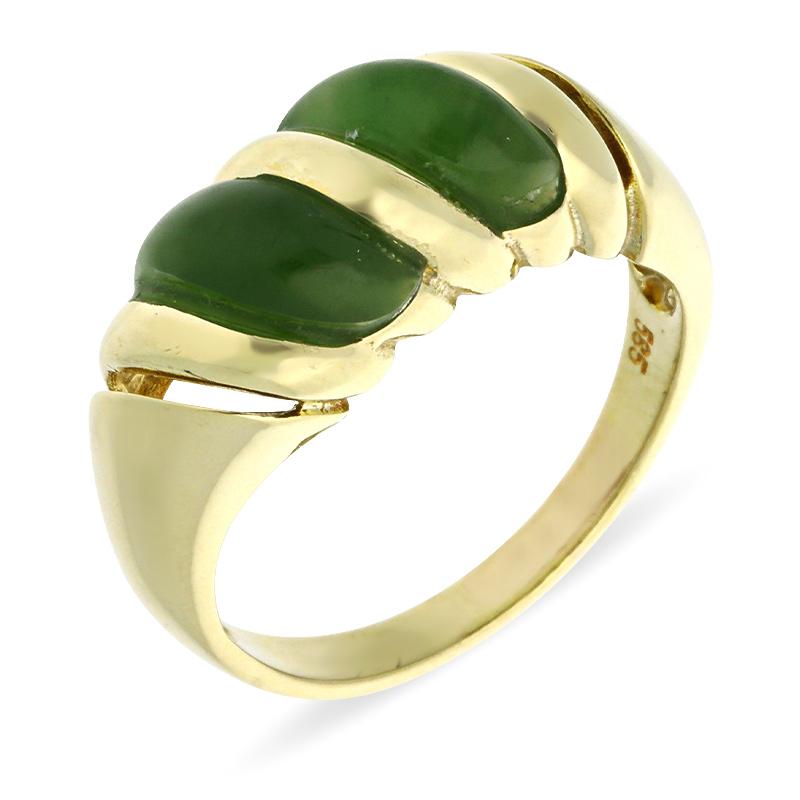 Jade-Ring Gelbgold