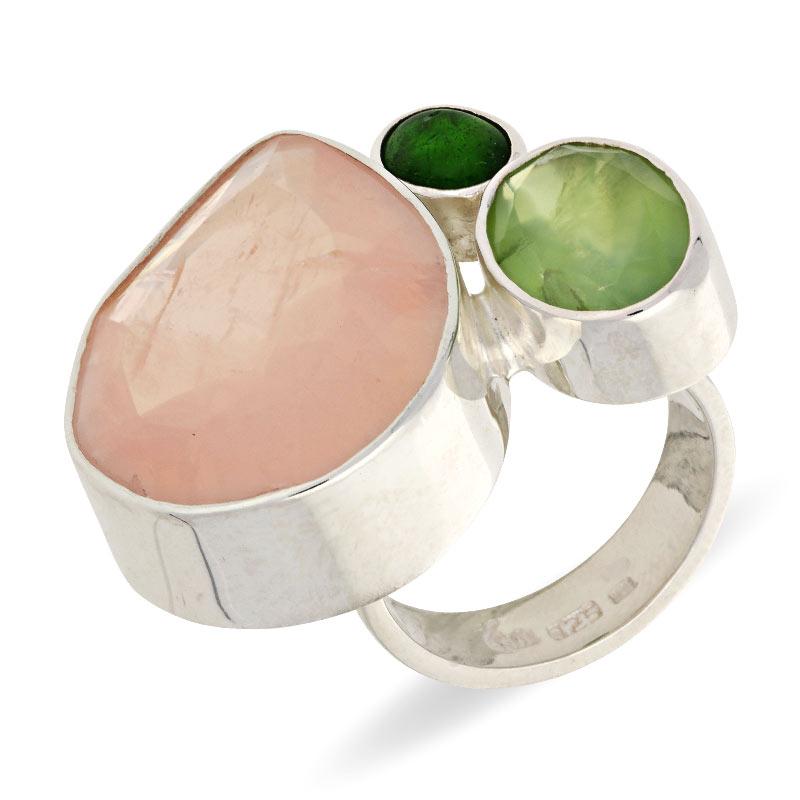 Farbstein-Ring Silber