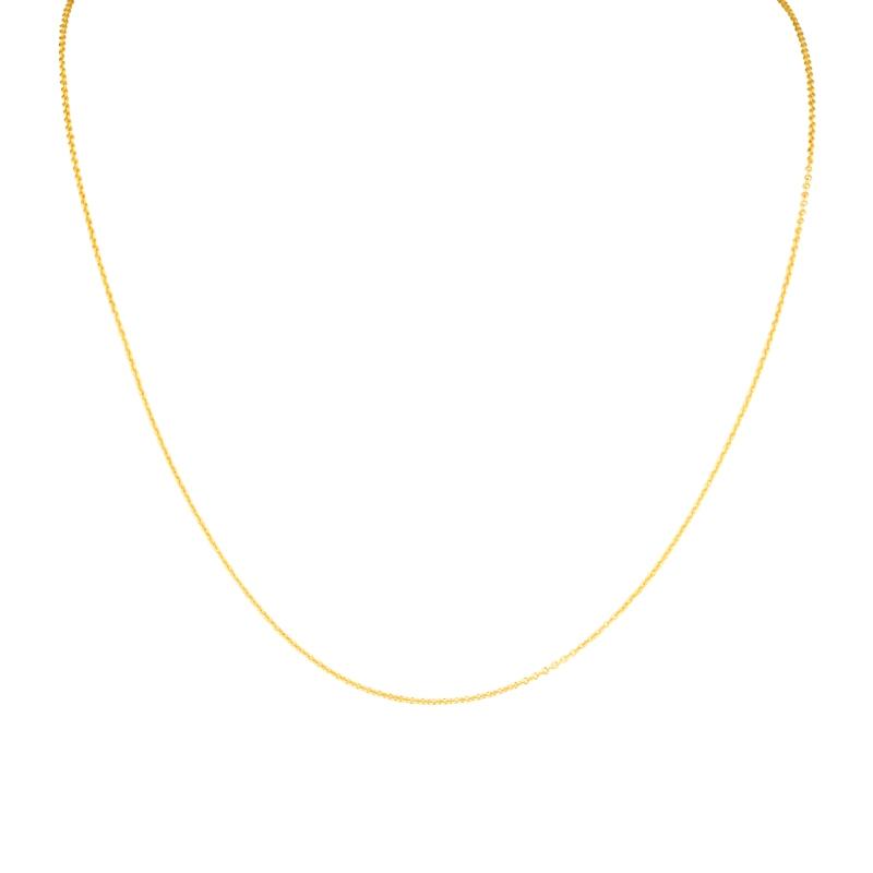 Rundankerkette in Silber vergoldet