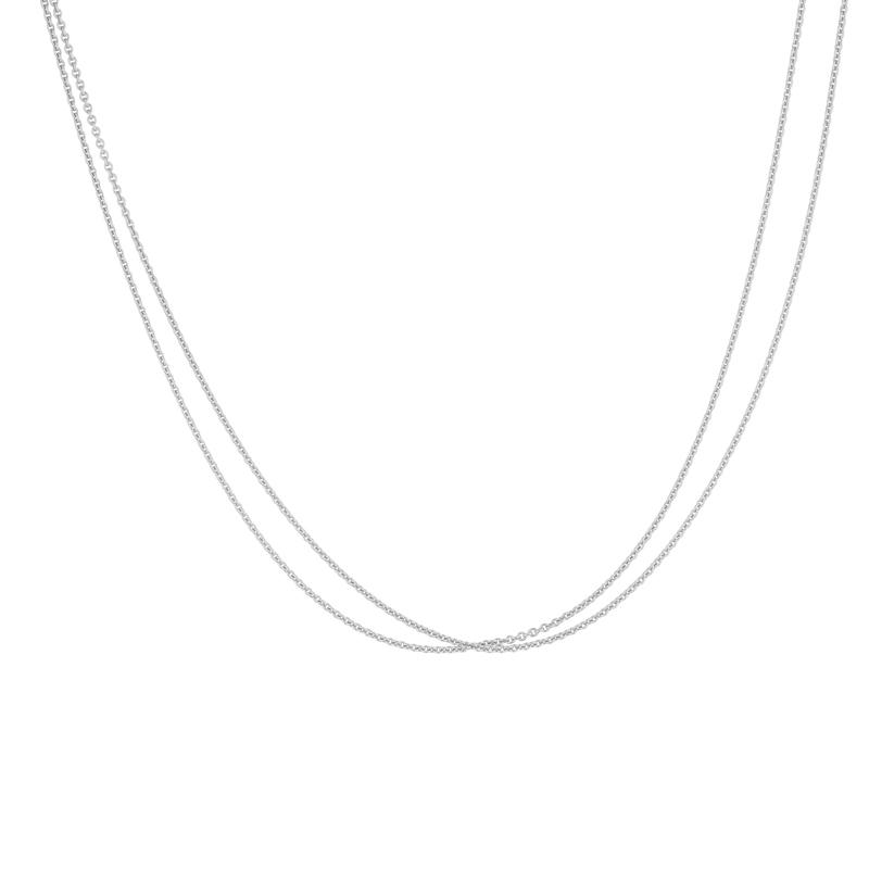Kette 2-reihig Silber rhodiniert