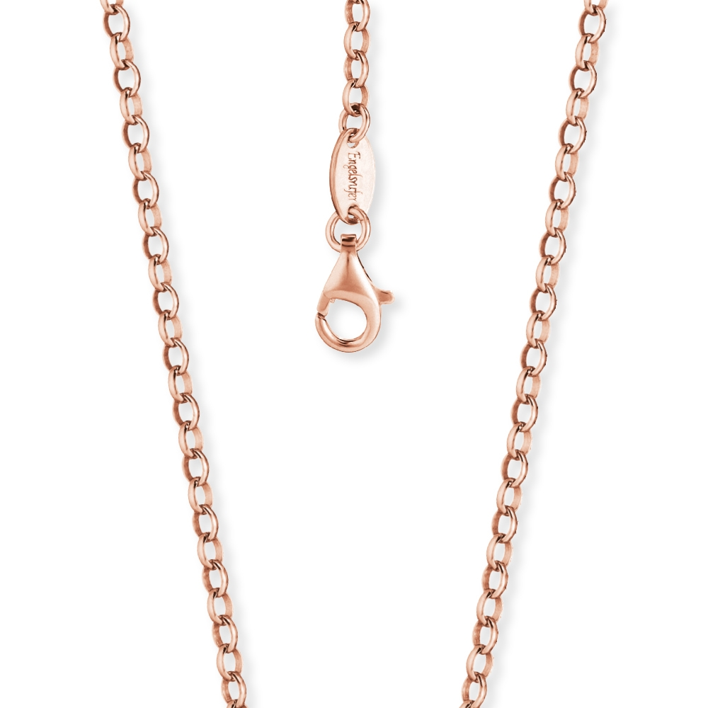 Kette Engelsrufer Silber, rosé-vergoldet 50 cm