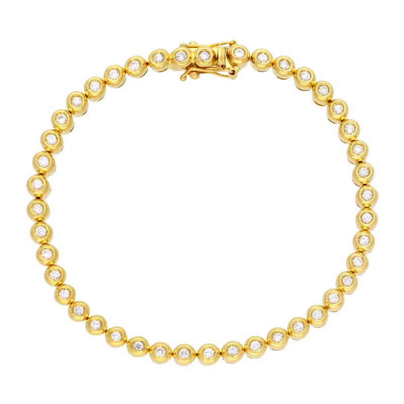 Brillant-Tennisarmband Gelbgold